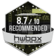 8.7/10 Recommended award