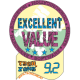 9.2/10.0 Excellent Value Award