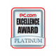 Excellence Award Platinum PC.com