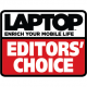 Editor's choice Award Laptop Magazine