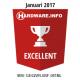 Exellent award january 2017 Hardware.Info Nederland